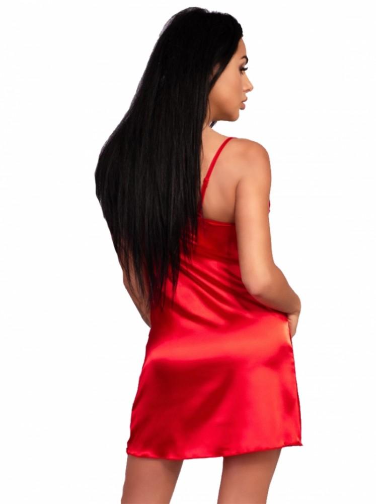 Compleu 3 piese camasa, halat si tanga Narcisa Red