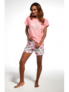 Pijamale dama bumbac Flamingo Lovely Day
