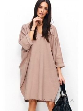 Rochie oversize din bumbac Capucino