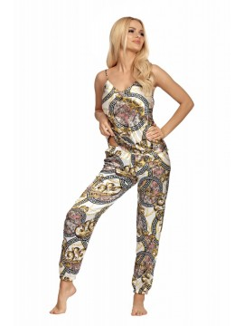 Pijamale dama 3 piese satin Donnela