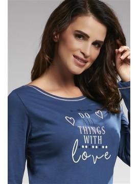 Pijamale lungi dama bumbac With Love