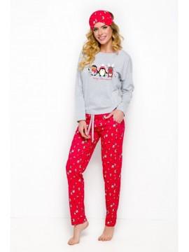 Pijamale dama bumbac Nadia Pinguin