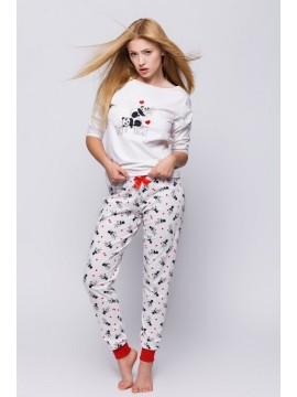 Pijamale dama bumbac Panda