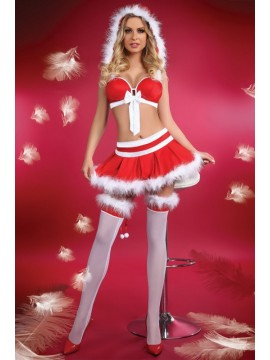 Costum Craciunita 5 piese Miss Christmas